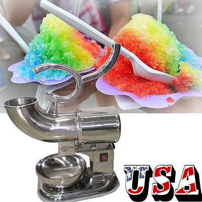 New Ice Shaver Machine Sno Snow Cone Maker Shaved Icee Electric Crusher 400lbsh