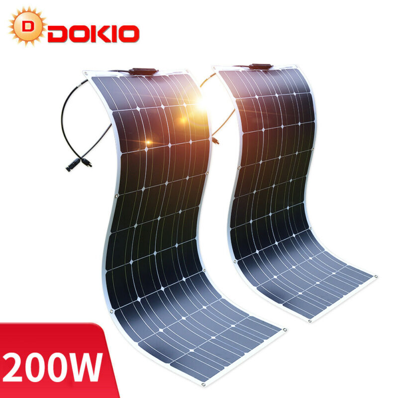 Dokio 100w 200w 500w ETFE flexible Solar Panel For Car Battery/Boat/Camping/RV