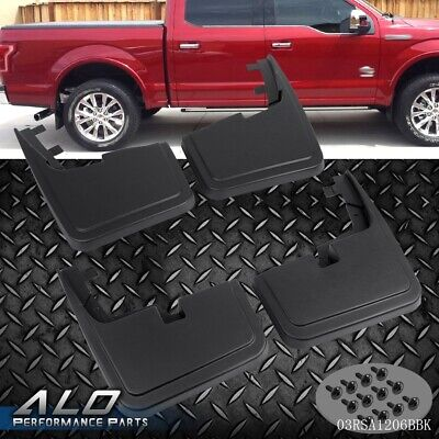 For 2015-2018 F150 Front Rear Splash Mud Guards Flaps WITHOUT Fender Flares F150 Mud Flap