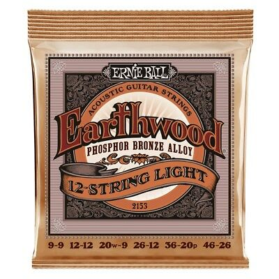 Ernie Ball 2153 12-String Phosphor Bronze Acoustic Guitar Strings Light (Bronze Lite 12 String)