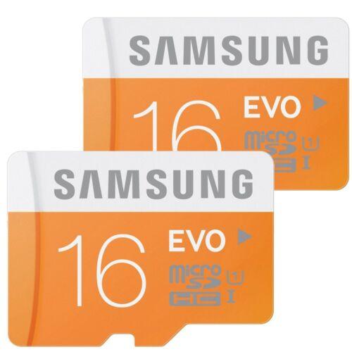 2x 16GB Samsung EVO 48MB/s Class 10 UHS-I Micro SD SDHC MicroSD Speicherkarte