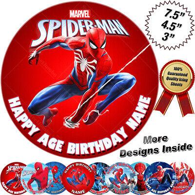 Spiderman Cake Topper Personalised