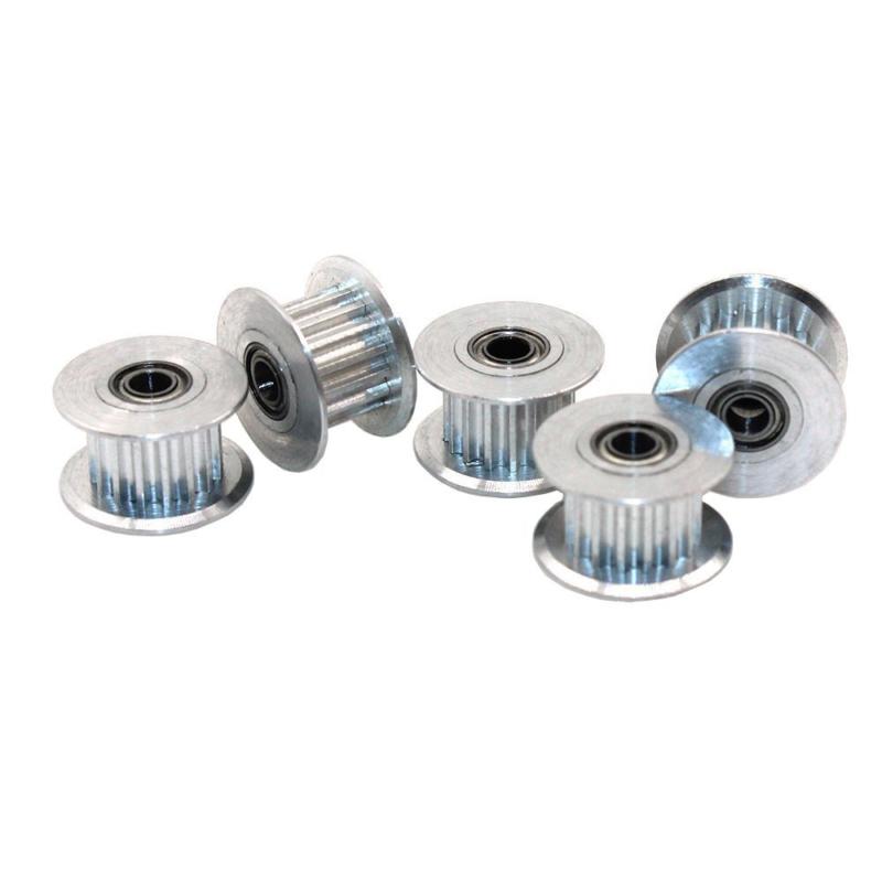 5pcs 5//8mm Bohrung GT2 Gürtel Zahnriemenscheibe Aluminium 20T Für 3D-Drucker