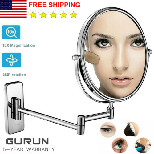 GURUN Hotel Makeup Mirrors with 10X Mignification and Normal