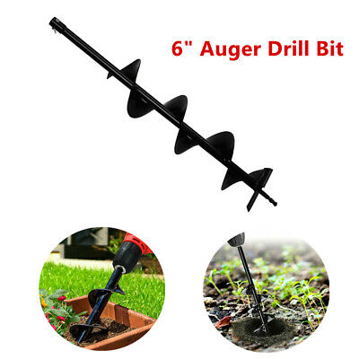 6 Earth Auger Drill Bits For Gas Powered Post Fence Drill Post Hole Digger Tool
