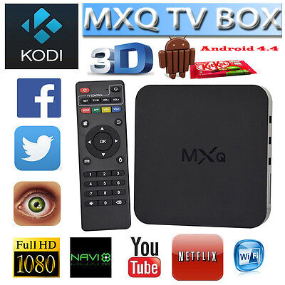 MXQ Smart TV Box Android 4.4 Quad Core Media Player 1G+8G WIFI HDMI 1080P