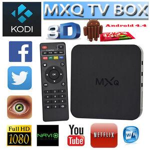 MXQ Android Smart TV Box Quad-Core 1G+8G WIFI Kodi HD 1080P with i8 Keyboard #CA