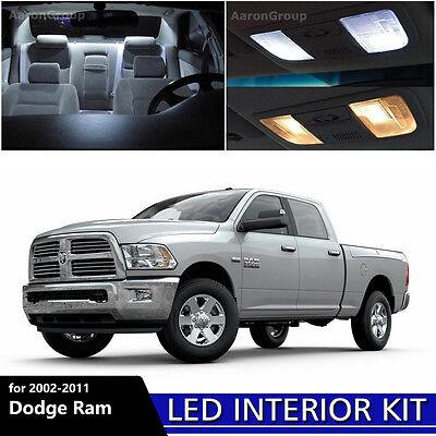 11PCS White Interior LED Light Package for 2002 - 2011 Dodge Ram 1500 2500 3500