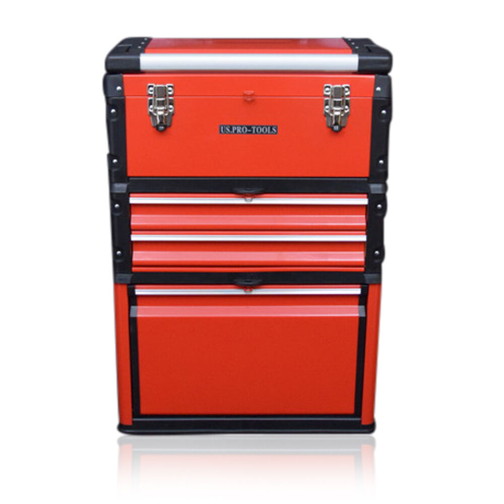 315 Us Pro Tools Rouge Mobile Roulant Coffre Chariot