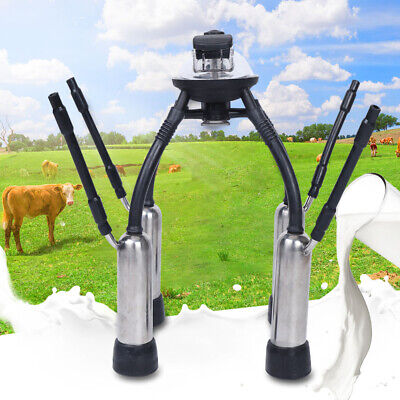 Portable Cow Milking Vacuum Pump Machine Milker Claw Cow Milking Cluster 240cc