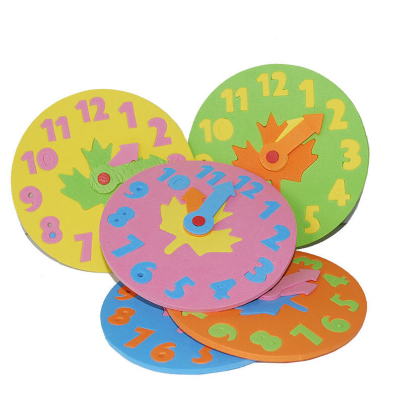 1xFoam Number Clock Time Puzzle Children Baby Kids Learning Educational Play Toy