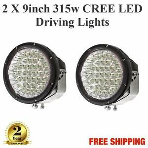 2 X 9inch 315w CREE LED Spot Light Offroad 4WD 4X4 Red or Black Spearwood Cockburn Area Preview