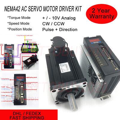 1.2kw 4nm Cnc Servo Motor Nema42 Ac Servo Driver Amplifiers For Cnc Mill Router