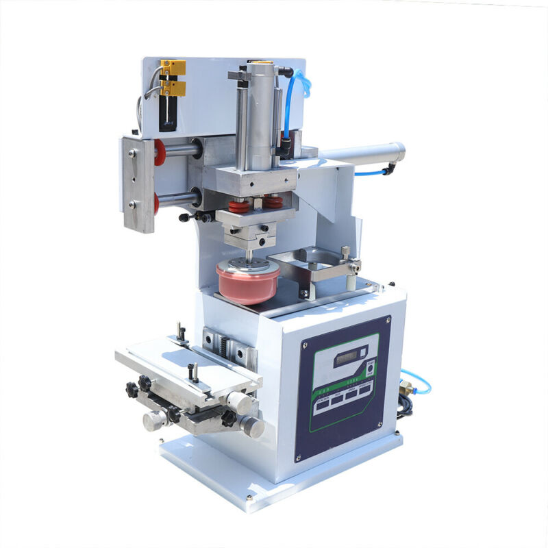 PHEUMATIC PAD PRINTER 50W PRINTING MACHINE T-SHIRT COLOR INKPRINT LOGOS CODING