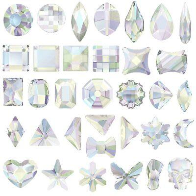 Swarovski [ Pick any shape You want ] AB Crystal (No Hotfix) Flatback Rhinestone](Bulk Rhinestones)