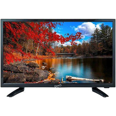 """1080P HDTV SUPERSONIC 24"""" LED LCD TELEVISION w/ DIGITAL TV TUNER  12V AC/DC NEW"""