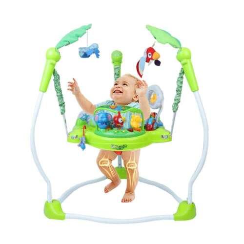 3in1 Gehfrei Lauflernhilfe Baby Walker Baby und Wippe mit Musik höhenverstellbar