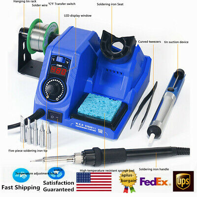 130w 8in1 Pcb Smd Smt Rework Soldering Station Iron Kit Digital Led Welding Tool