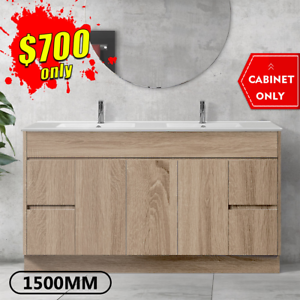 Bathroom Vanity 1500mm Freestanding Timber Look Cabinet LOGAN *NEW
