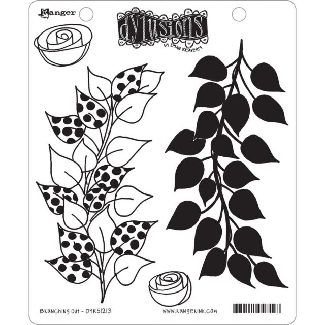 """Dyan Reaveley's Dylusions Cling Stamp Collections  8.5""""X7"""" - Branching Out"""