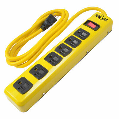 Southwire 5139n 6 Outlet Metal Power Strip 6 Cord