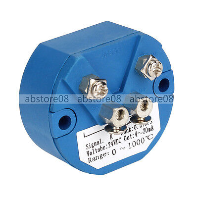 Industrial K Type Thermocouple Temperature Converter With 4-20ma Output 0-1000c