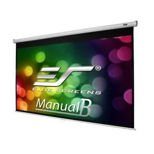 NEW Elite Screens Manual B Series, 100-inch Diagonal 16:10, Pull Down Projection Manual