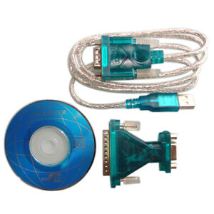 USB 2.0 Male to RS232 Serial DB9 9 Pin and 25 Pin Adapter Connecter