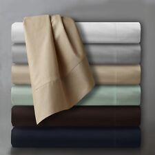 500 Thread Count 100% Egyptian Cotton 4 Piece Bed Sheet Set - Fits Deep Pockets