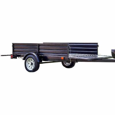 Detail K2 Single Axle Mighty Multi-utility Corrugated Solid Steel Floor Trailer