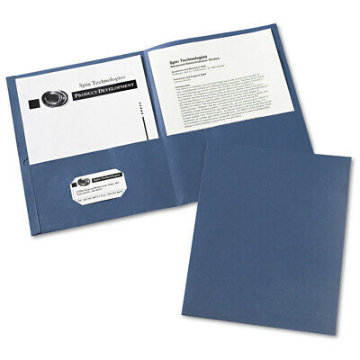 Avery 47985 25-pc. 2-pocket 40-sheet Cap. Folder Dark Blue New