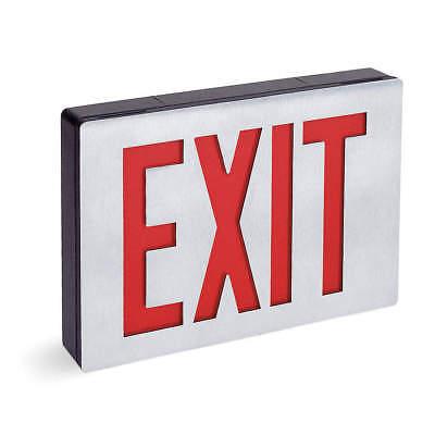 Lithonia Lighting Le S1r El N Exit Sign1face Led Blacksilver Aluminum Housing