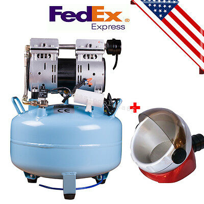 Upsmedical Dental Air Compressor Noiseless Silent Quiet Oil-less Oil Free Gift