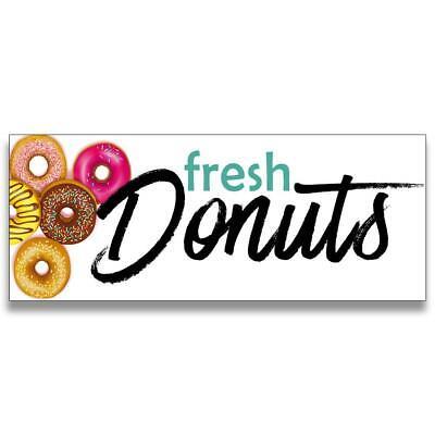 Fresh Donuts Vinyl Banner Size Options
