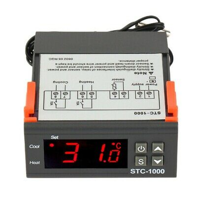 110-220v Digital Stc1000 Temperature Controller Thermostat Sensor Probe Sx