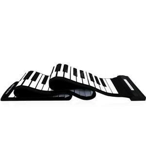 USB 88 Keys MIDI Roll up Electronic Piano Keyboard Flexible Professional C1R9