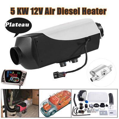 12V Diesel Air Plateau Heater 5KM/17000FT Silencer For Trucks Boat Motorhome 5KW