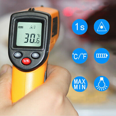 Temperature Gun Infrared Digital Thermometer Non-contact Laser Ir Temp Meter