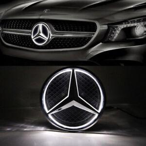 Car Front Illuminated LED Grille Logo Emblem Badge Light For 06-13 Mercedes Benz