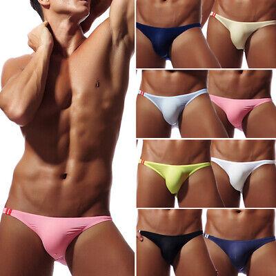 Herren Männer Mens Sexy Low Rise String Slip Tanga Unterwäsche Unterhose 8 Farbe
