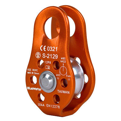 BlueWater Ropes Micro Pulley - Orange