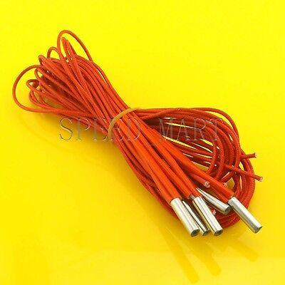 5 X Reprap 12v 40w Hotend J-head Ceramic Cartridge Heater 1m Wire For 3d Printer