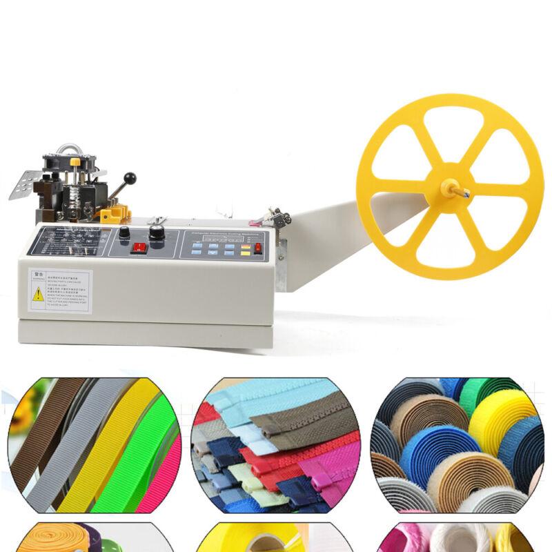"Hot Cold Strip Cutter Automatic 4"" Webbing Belt Textile Ribbon Cutting Machine"