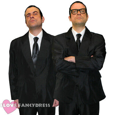 MENS GANGSTER TWINS COSTUMES SUIT TIE GLASSES COUPLE FANCY DRESS 50S 60S ENGLAND (60s Gangster)