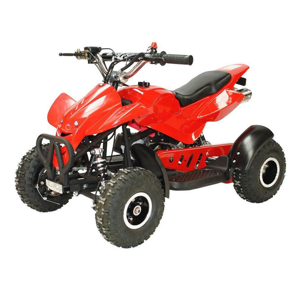 kids 49cc 50cc mini moto quad bike pocket quad atv red or yellow in leicester. Black Bedroom Furniture Sets. Home Design Ideas