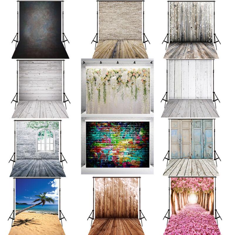 Vinyl Photo Backdrop Brick Wood Floor Photography Background Video Studio Props