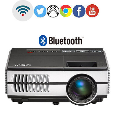 LED Home Theater Mini Android Projector Bluetooth WiFi HD Online TV Movie Apps
