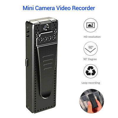 HD 1080P Mini Camera Police Body Bike Camcorder Loop Recordi