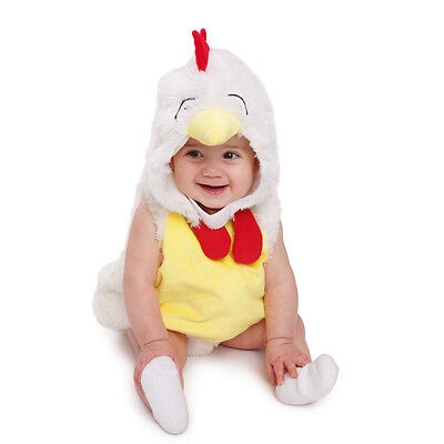 Baby Plush Rooster Chicken Costume By Dress Up America (Baby Ups Costume)