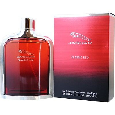 Jaguar Classic Red 3.4oz 100ml Eau de Toilette Spray for Men in original pack, used for sale  Shipping to Canada
